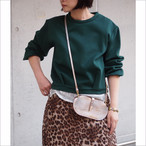 【hippiness】tuck longsleeve tops(double knit)/【ヒッピネス】タック ロングスリーブ トップス(ダンボールニット)