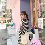 【新作10%off】striped see through shirts 2622