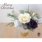 【クリスマス】Merry Christmas2017✳︎ホワイト×パープル クリスマスプリザーブドフラワーアレンジメント