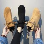 【shoes】エレガント裏起毛無地ブーツ