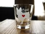 フレンチブルドッグ彫刻グラス(ハート&クローバー)