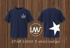 【STAR LOGO T-shirt indigo】