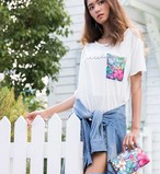 [Colleen Wilcox]ポケットアートTシャツ