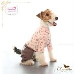9。Parisdog【正規輸入】犬 服 つなぎ ピンク オールインワン 秋 冬物