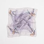 WEB限定 Organic Cotton 'Canopy' Baby blue リング付きミニスカーフ