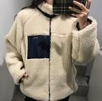 【在庫あり!】モコモコ ボア ジップアップパーカー ジャケット【0768】