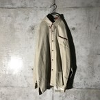 [used] pointed cream shirt