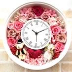 ◆オーダーメイド彫刻◆受注制作◆ 花時計 フラワーウエディングピンク