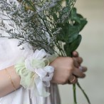 <mini>サクラ~彩る咲き編みシュシュ