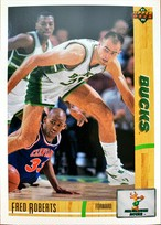 NBAカード 91-92UPPERDECK Fred Roberts #293 BUCKS
