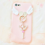 《即納》iPhoneケース 魔法のステッキ♡ 天使のはねケース iPhone8 iPhone7 iPhone6 6s