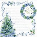 ペーパーナプキン ブルークリスマス