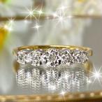 1900年代初期イギリス エドワーディアン アンティークリング ダイヤモンド5石✨
