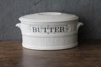 レア 陶器 飾り文字 BUTTER pots