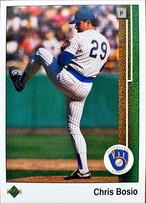 MLBカード 89UPPERDECK Chris Bosio #292 BREWERS
