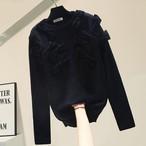 【トップス】12おリボン セーター・ブラック