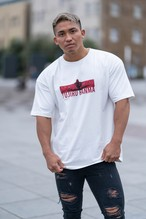 "XENO x BAKI Collaboration T-shirt ""SPLIT"" White"
