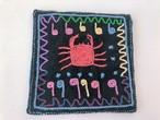 【レンテン族】自然染・手縫いコースター かに