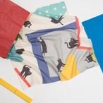 Organic Cotton 'Acrocats' リング付きミニスカーフ
