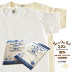 SOS from Texas Tシャツ S/S SCOOP TEE ST-2000 オーガニック コットン ティー シャツ ユニセックス スクープネック 白