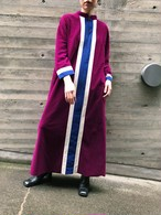 Vintage purple × white × blue dress ( ヴィンテージ パープル × ホワイト × ブルー ワンピース )