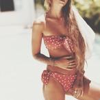 Bikini♡ドットバンドゥビキ二 オレンジ GSB18S023ORG