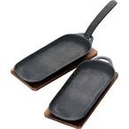 及源鋳造 OIGEN 焼き焼きグリルスリム 2個セット 焼き皿 25cm 南部鉄器 ガスコンロ対応 オーブン対応 アウトドア 用品 キャンプ グッズ