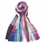 marumasu RAIN STRIPE [pink] テンセル80%シルク10%カシミヤ10%