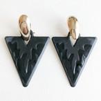 black triangle pierce[p-707] ヴィンテージピアス