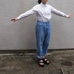 YAECA/ヤエカ  デニム  ワイドストレート L. BLUE #11-13UL20SS