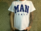 MANPOWER Official T-shirts 1 / WHITE