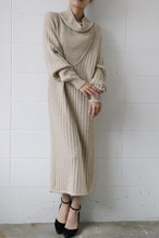 beige lambswool knit dress