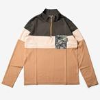 MMA 3tone Mountain Wool Zip L/S Tee (Green_Sand)