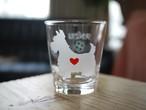 スコティシュテリア彫刻グラス(ハート&クローバー)