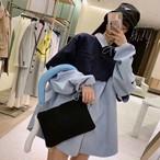 アルワンレイヤードMTMシャツ  MTM トレーナー レイヤード シャツ  韓国ファッション