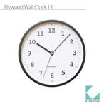 KATOMOKU plywood wall clock 13 km-84BRC 電波時計