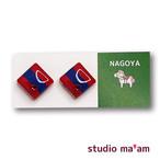 ■NAGOYA-09  ピアス。しかく。〜イヤリング変更可〜