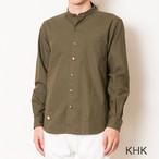 セカンド S&nd  C/L band collar shirt (KHK)