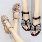 【shoes】ファッション配色合わせやすいサンダル19197396