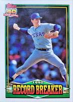MLBカード 91TOPPS Nolan Ryan  #006 RANGERS