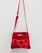 Get over SALE★Mesh-dots Sacoche RED