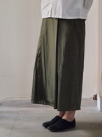 【DIARIES】WASHER HERRINGBONE WRAP SKIRT