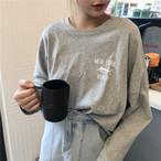 【新作10%off】NY beach loose long T shirts 3123