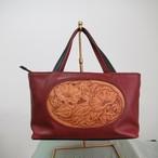 和服にも楽しめる「あさがお」の小ぶりなバッグ(vintage)