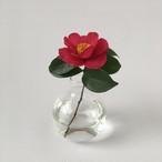 丸いガラスの花瓶(クリア)|Round Glass Flower Vase (Clear)