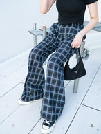 【UNISEX - 2 size】CHECK TROUSERS / Blue