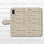 #089-025 iPhoneケース スマホケース 手帳型 全機種対応 おしゃれ メンズ エクスペリア iPhoneXS/X Xperia iPhone5/6/6s/7/8 ケース 人気 Google Pixel 3 Galaxy ARROWS AQUOS iPhone11 Pro Max タイトル:Glasses 作:7.7.4