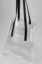 PVC / Cow Leather Tote Bag