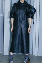 70~80's Vintage All Leather Black Dress