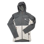 UN3100 Mid weight fleece hoody / Charcoal : Cream